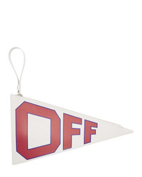 Off-White White Leather Flag Pouch