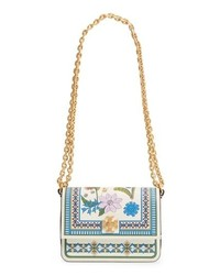 Tory Burch Mini Kira Floral Print Leather Bag