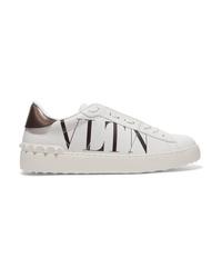 Valentino Garavani Logo Print Leather Sneakers