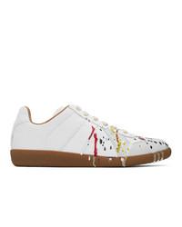 Maison Margiela Grey Painted Replica Sneakers