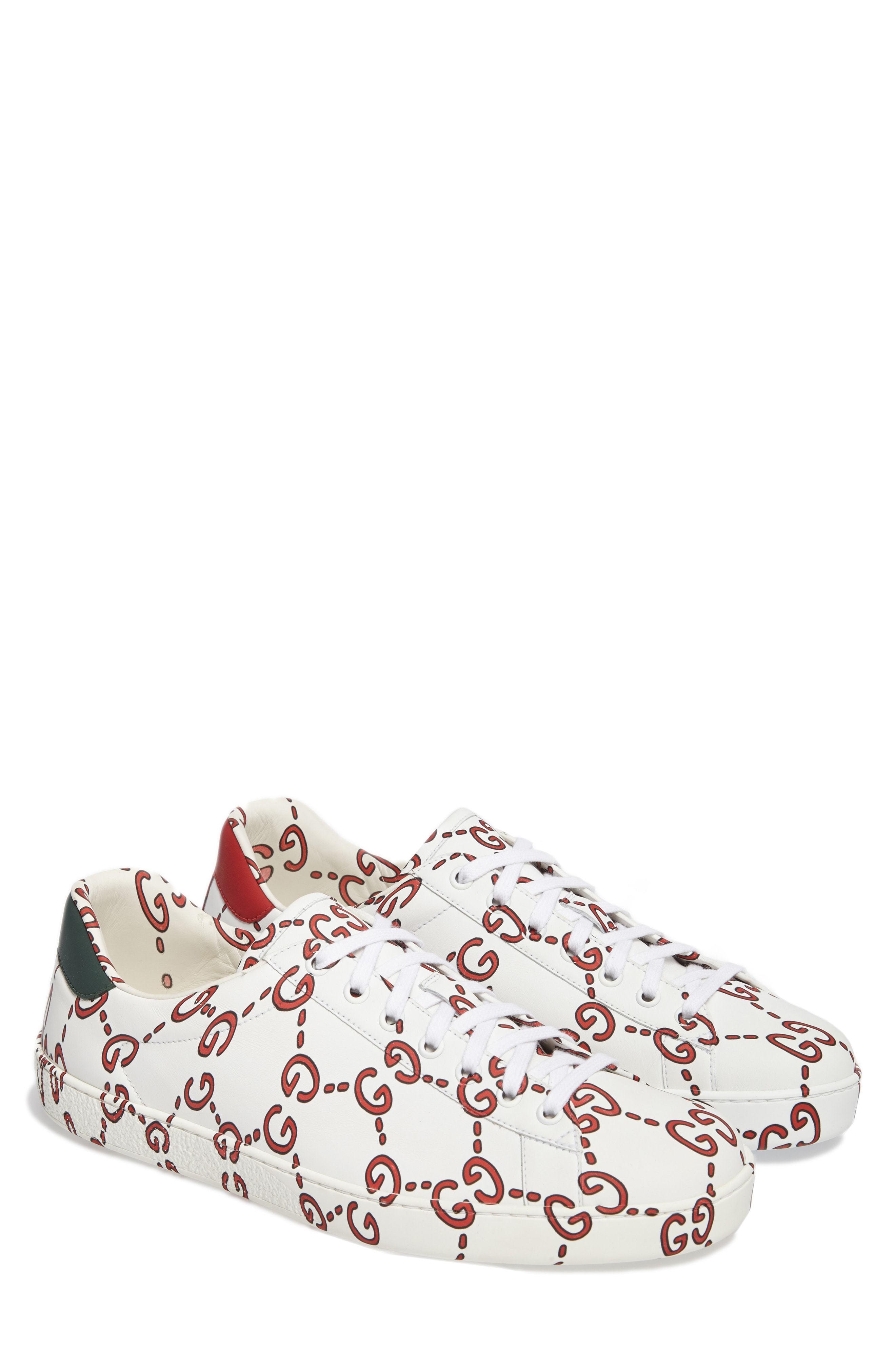 Gucci New Ace Gg Print Sneaker, $830