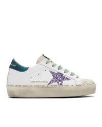 Golden Goose White And Blue Limited Edition Hi Star Sneakers