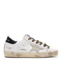 Golden Goose White Leopard Sneakers