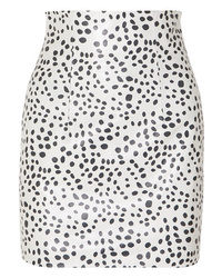 16Arlington Printed Leather Mini Skirt