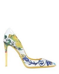 Dolce & Gabbana 105mm Kate Ceramica Lemon Patent Pumps