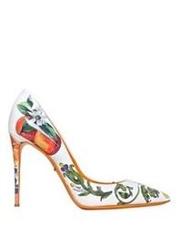 Dolce & Gabbana 105mm Kate Ceramica Orange Patent Pumps
