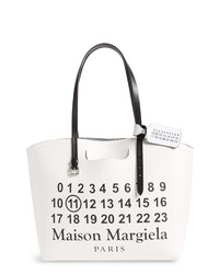 Maison Margiela Logo Leather Shopping Tote With Pouch