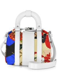 Carven Pelham Printed Fabric And Leather Shoulder Bag