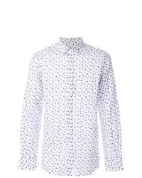 Canali Dragonfly Print Shirt