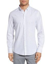 Benedict trim fit print sport shirt medium 3693849