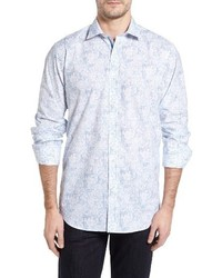 Bugatchi Classic Fit Layered Print Sport Shirt