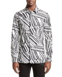 Collection slim fit allover print sport shirt medium 3943431