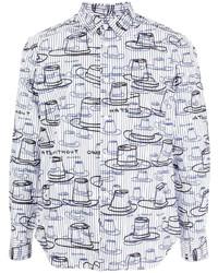 Comme des Garcons Homme Deux Comme Des Garons Homme Deux Graphic Print Cotton Shirt
