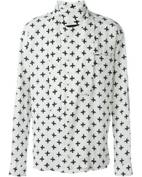 Haider Ackermann Printed Band Collar Shirt