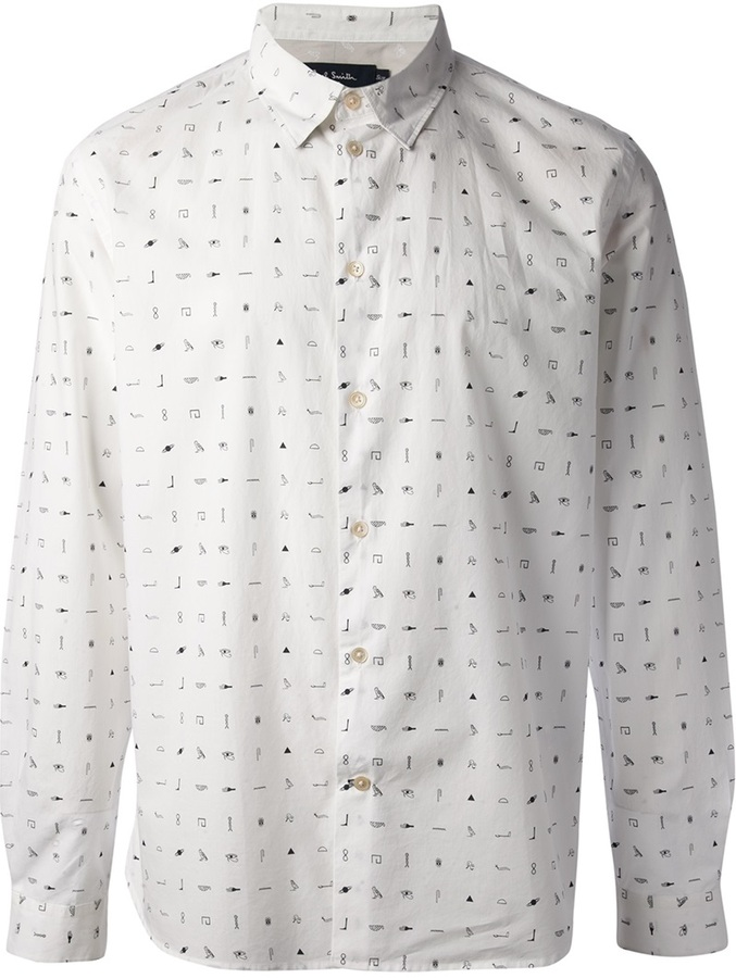Paul Smith Jeans Long Sleeve Printed Shirt | Where to buy & how to ...