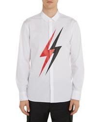 Neil Barrett Thunderbolt Button Up Shirt