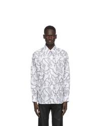 Givenchy White And Grey Printed Shirt