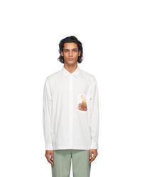 Jacquemus White Egg Print La Chemise Baou Shirt