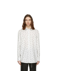 Valentino White Logo Pattern Shirt