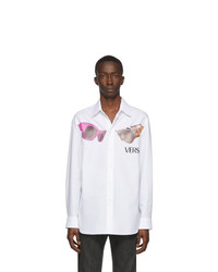 Versace White Logo Sunglasses Shirt