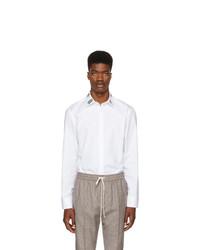 Gucci White Multi Graphic Collar Shirt