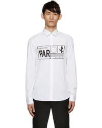 Kenzo White Poplin Passport Shirt