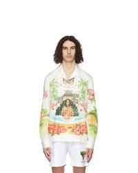 Casablanca White Poplin Printed Shirt
