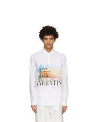 Valentino White Poplin Roman Sketches Shirt