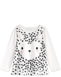 First Impressions Baby Girls Long Sleeve Graphic Print T Shirt Only At Macys