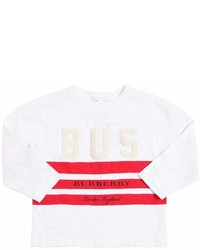 Burberry Bus Printed Cotton Jersey T Shirt