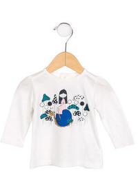 Little Marc Jacobs Girls Graphic Long Sleeve T Shirt W Tags