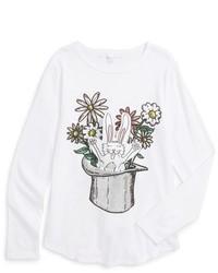 Stella McCartney Girls Kids Barley Rabbit Long Sleeve Graphic T Shirt