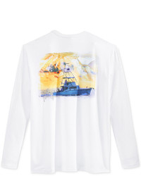 Guy Harvey Graphic Print Long Sleeve Performance Sun Protection T Shirt