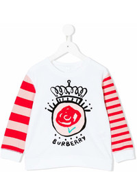Burberry Kids Appliqud Long Sleeve T Shirt