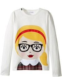 Dolce & Gabbana Kids Back To School Bimba Bionda Long Sleeve T Shirt