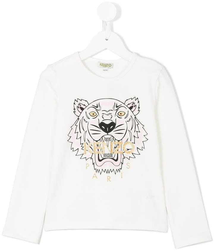 Kenzo Kids Tiger Print T Shirt