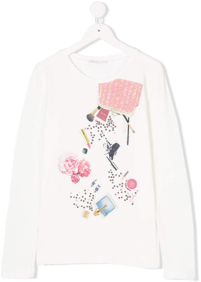 Liu Jo Kids Printed Long Sleeved T Shirt