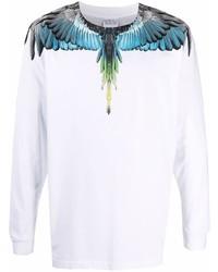 Marcelo Burlon County of Milan Logo Print Longsleeved Sweatshirt