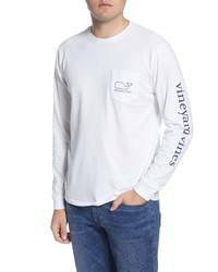 Vineyard Vines Logo Whale Long Sleeve Pocket T Shirt