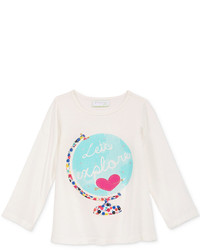 First Impressions Long Sleeve Graphic Print T Shirt Baby Girls Only At Macys