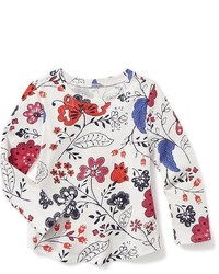 Old Navy Long Sleeve Printed Scoop Neck Tee For Toddler