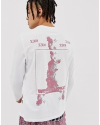 YOURTURN Long Sleeve T Shirt With Graphic Print In White