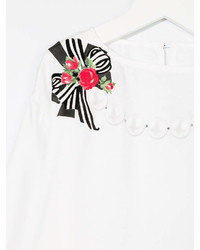 Monnalisa Chic Bow Print Long Sleeve T Shirt