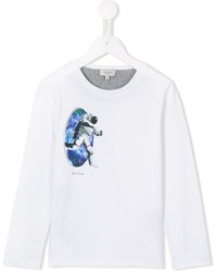 Paul Smith Junior Astronaut Printed Long Sleeve T Shirt