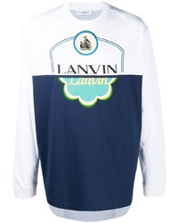 Lanvin Printed Logo Long Sleeve T Shirt