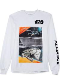 JEM Star Wars Millennium Falcon Rebel Fleet Graphic Print Long Sleeve T Shirt From
