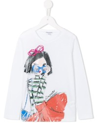 Simonetta Stylish Girl Print T Shirt