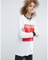 Asos T Shirt With Order Print And Super Long Sleeve