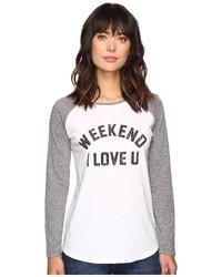 The Original Retro Brand Weekend Love U Long Sleeve Raglan Long Sleeve Pullover