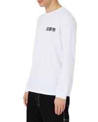 2bb15ab3 Men's White Print Long Sleeve T-Shirts by Topman | Men's Fashion ...